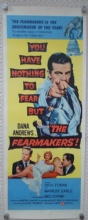 Fearmakers, Insert Movie Poster, Dana Andrews, Marilee Earle, ROLLED, '58